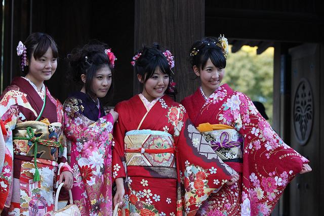 chicas japonesas en kimonos