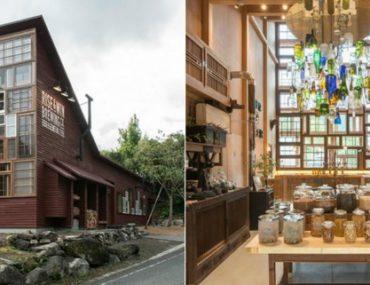 El increíble bar japonés construido con residuos reciclados