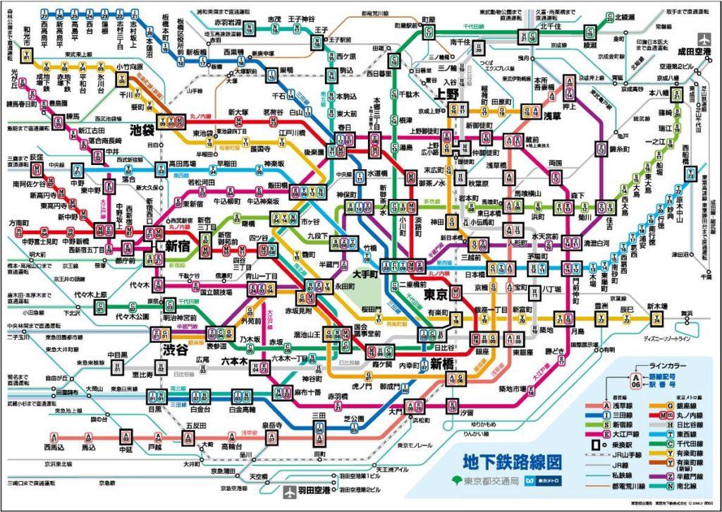 mapa de tren
