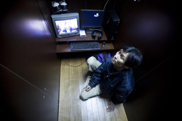 vivir en un cibercafé en Japón