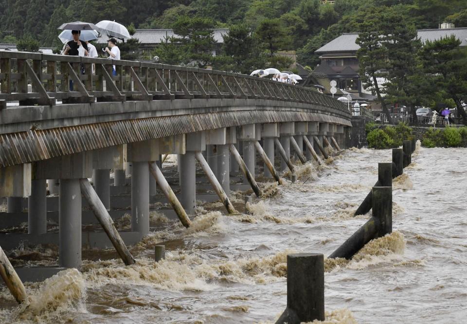 evacuadas en Japón