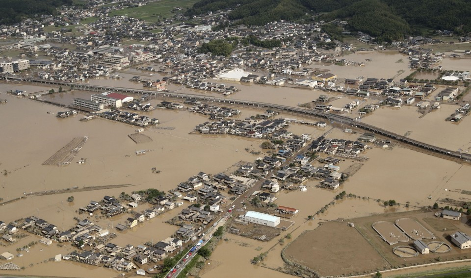 lluvias japón