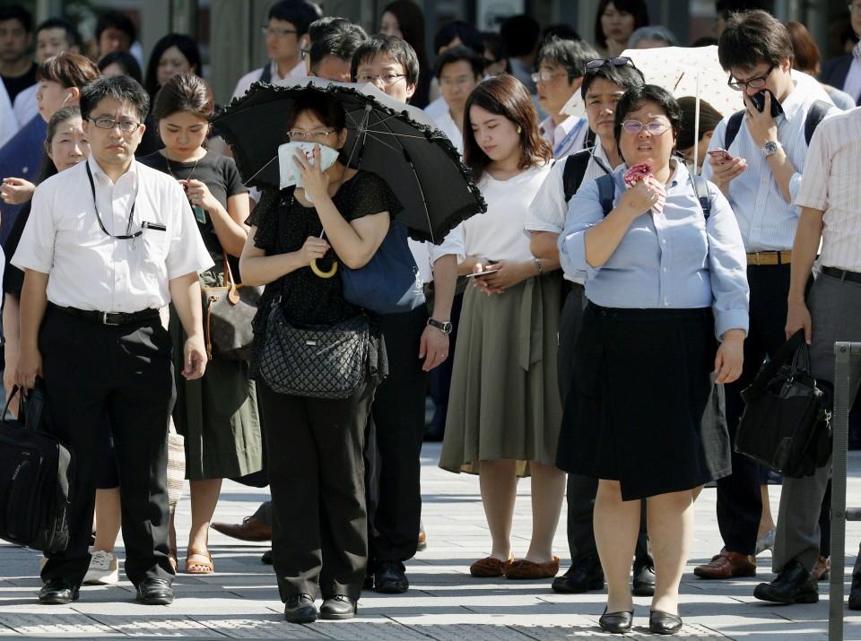 ola de calor en en japón 2018
