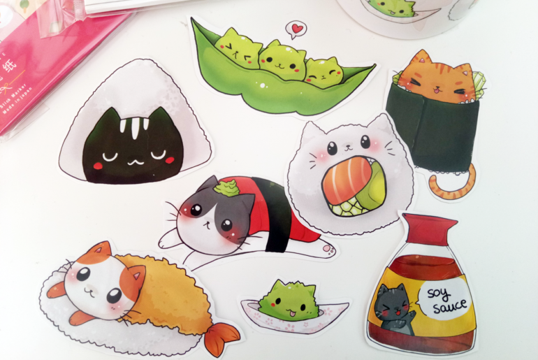 gatitos como platos japoneses