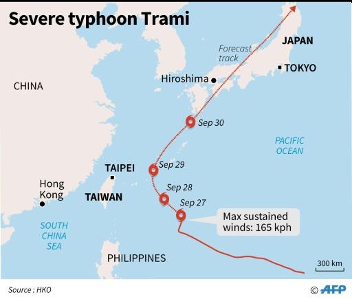 japón tifón Trami