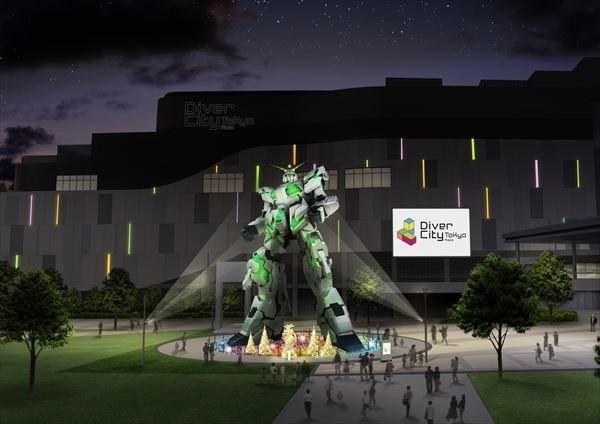 unicorn gundam odaiba evento especial