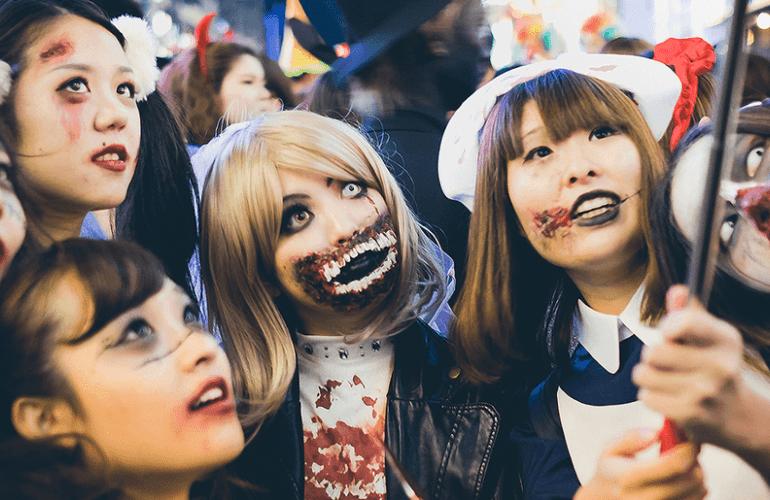 Shibuya beber en Halloween y año nuevo