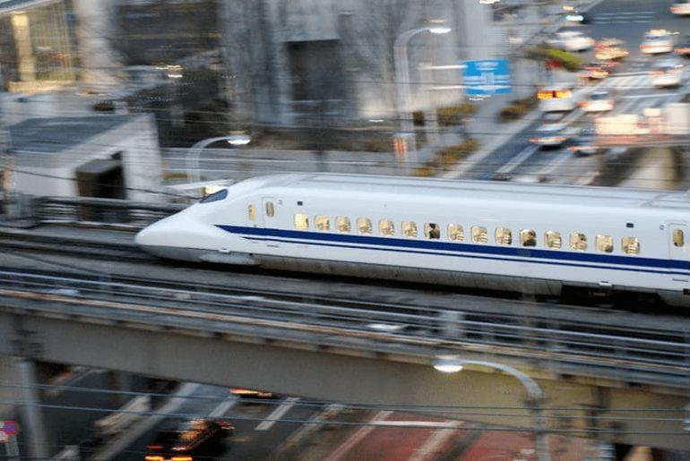 babosa linea de alta velocidad de Japón