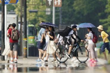 fuerte ola de calor en japón