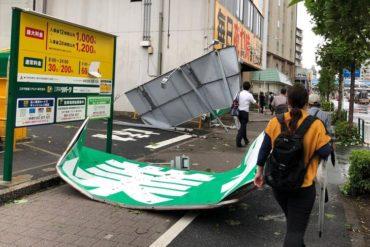 tifon faxai heridos japón
