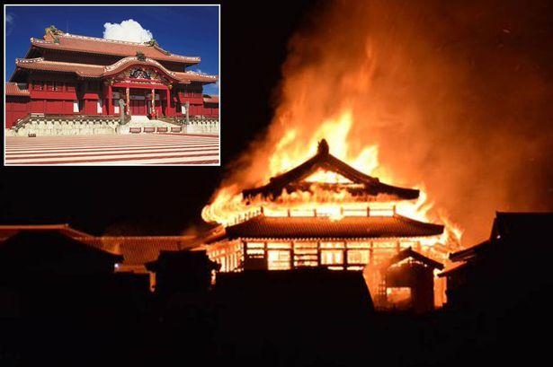 incendio castillo shuri japón