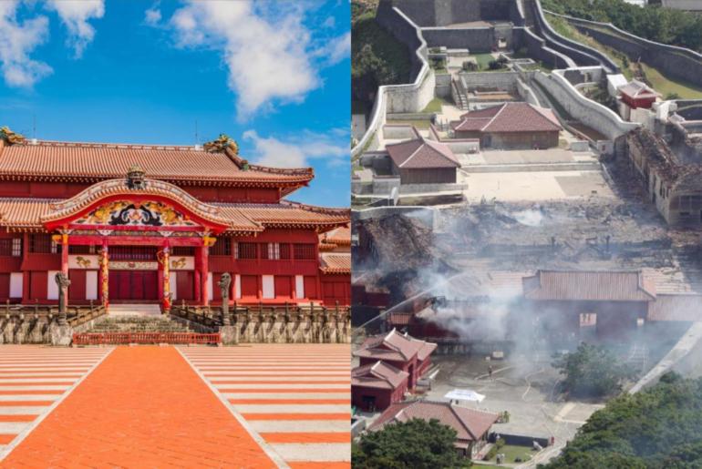 castillo de shuri tras el incendio
