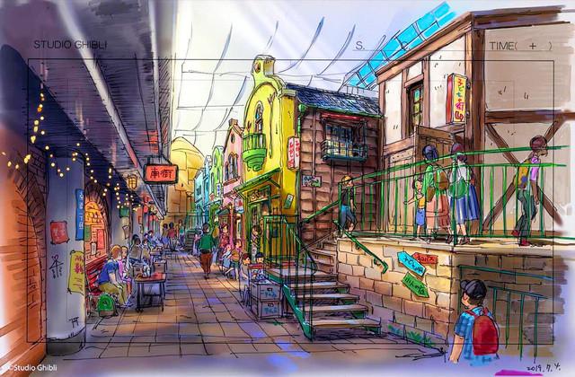 arte conceptual del parque temático de Studio Ghibli