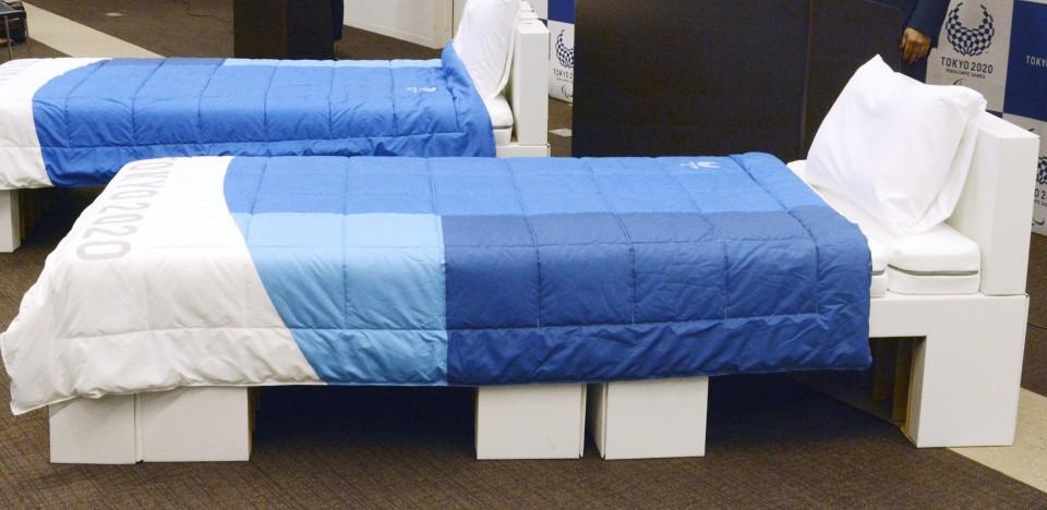 Osaka reutilizará camas olímpicas de cartón para pacientes con COVID-19